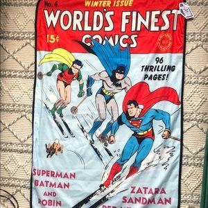 DC Comics Batman Robin Superman Blanket